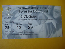 02/03 Ticket BVB Borussia Dortmund - Real Madrid Eintrittskarte Sammler EC