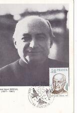CARTE MAXIMUM - FRANCE - PERSONNAGE - ABBE HENRI BREUIL - 1977.