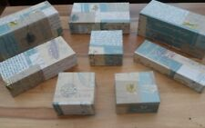 Vintage Themed Various Sizes Inspired Window Shop Display Wooden Blocks Covered