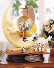 Disney Silly Symphonies Cartoon 75th Anniversary Snowglobe Wood Base Glass Resin