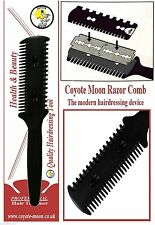 Hair Razor Comb,+ 10 Blades, Cut/Scissor/Hairdressing/Thinning/Trim/Punk/Emo.UK