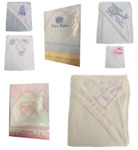 New Baby Girl Boy Wrap Hooded Cotton Rich Teddy Rocket Bath Towel 75cm