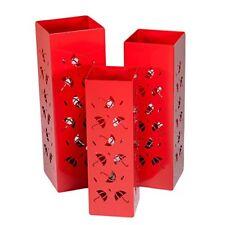 Portaombrelli rossi in metallo