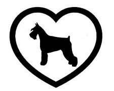 MINIATURE SCHNAUZER HEART VINYL DECAL STICKER DOG BREED CHOOSE COLOR SIZE