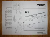 Crosman 2100 O-Ring Seal Kit + Exploded View & Parts List + Seal ID Guide