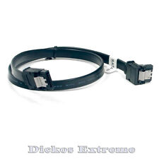 SATA-III  45cm 6Gbps DATA Cable w-Latch-1 End 90°-Black - SATA 3