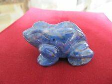 ~*BEAUTIFUL Vintage Chinese Carved Stone Figurine Lapis Lazuli Frog/Toad*~