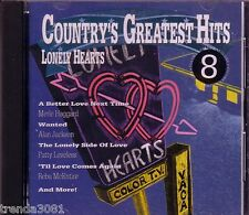 Countrys Greatest Hits VoL 8 LONELY HEARTS CD Classic 70s 80s ALAN JACKSON