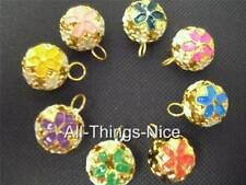 Cloisonne 15mm Bell Mini Jingle Colgante Charms Joyería realizar apreciaciones 24