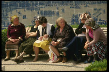 256038 Local Women On Park Bench A4 Photo Print