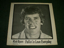 Fallin' In Love Everyday Rick Byars~RARE 1979 Private Label Folk Pop with Insert