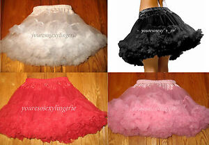 """Plus Size FLUFFY LAYERED TULLE PETTICOAT Costume 16"""" LONG  fits 26"""" to 51"""" waist"""