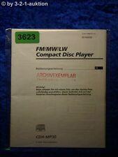 Sony Bedienungsanleitung CDX MP30 CD Player (#3623)