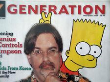 2001 MAY-JUNE MY GENERATION MAGAZINE - MATT GROENING Bart Simpson on Cover