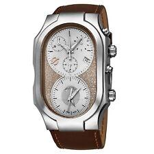Philip Stein Men's Signature Brown Leather Strap Quartz Watch 300SBECRSTCH