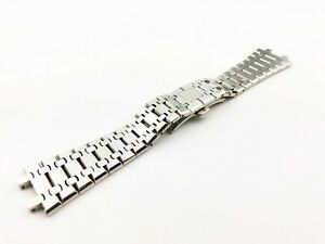 26mm Silver Stainless Steel Strap/Band fit Audemars Piquet Watch Clasp/Buckle