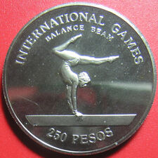 1984 GUINEA-BISSAU 250 PESOS PROOF BALANCE BEAM ENGRAVER'S INITIALS (no silver)