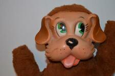 Vintage Rubber Face Brown Dog Plush 12.5 inches RARE Knickerbacker 1950's/1960's