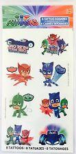 8 PJ Masks Tattoos  Party Favors Teacher Supply Catboy Owlette Gekko Disney