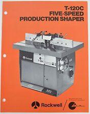 Rockwell Tools Dealer Brochure Manual Catalog Five Speed Production Shaper T120C