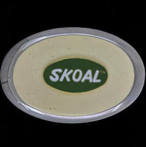 Skoal Chewing Tobacco Dip Chew Advertising Western 1980s NOS Vintage Belt Buckle