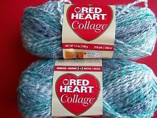 Red Heart Collage variegated twist yarn, Tundra, lot of 2 (218 yds ea)