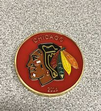 Fernet Branca Chicago Blackhawks 2015 Coin with DISPLAY CASE