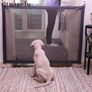 Portable Folding Safety Gate Guard Mesh Fence Net for Pets Dog Puppy Cat