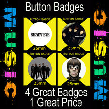 "BEADY EYE- 4 GREAT BUTTON BADGES - 25mm -1"" CD5678"