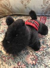"Bearington Plush Scottish Terrier Scotty Scottie Puppy Dog Black 6"" #C2"