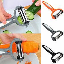 360 Rotary Kitchen Tool Fruit Potato Vegetable Peeler Cutter Slicer Gadget Black