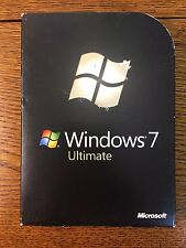 Microsoft Windows 7 Ultimate 32 & 64 bit Full Retail Version SKU # GLC-00182