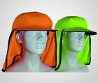 Hi Vis Eyelet Mesh Hat Safety Face Protection Sun Cap Helmet Ultra UV Resistance