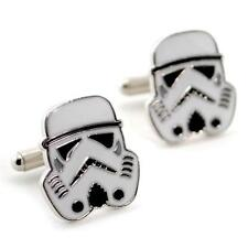 STORMTROOPER CUFFLINKS Star Wars Clone Army Empire NEW w GIFT BAG Pair Wedding