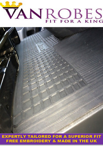 Renault Trafic 2014 on. Tailored Rubber Mats. Front & Rear for Crew Van Model