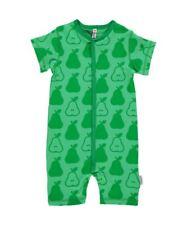 Maxomorra Organic Cotton Baby Girl Boy Green PEAR Rompersuit Newborn 3 6 9 12 18 3-6 Months