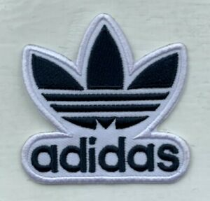 ADIDAS TREFOIL Logo (BLACK)- Embroidered Iron on Sew on PATCH#16