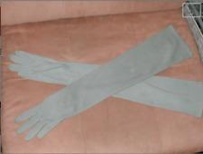 Vintage 1950's Khaki-Green Opera-length Long Gloves