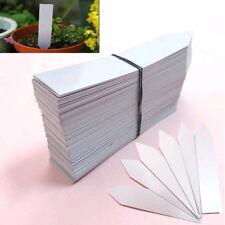 100x Stecketiketten 10x2 cm farbig weiß Pflanzetiketten Pflanzschilder Etikett