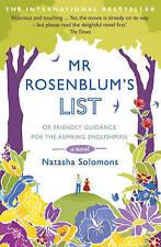 Mr. Rosenblum's List by Natasha Solomons New paperback Book