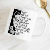 Ruth Bader Ginsburg Coffee Mug, RBG Coffee Mug with Quote, RBG Coffee Cup Gift
