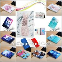 Etui Coque Housse COLORS Cuir PU Leather Case Tablet Samsung Galaxy Tab A7 2020