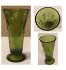 "VINTAGE Indiana Glass Decorative Vase AVOCADO GREEN HARVEST 3.75"" x 7.75"" Tall"