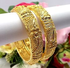 Indian Asian Size:2.4 Bridal Jewellery Ethnic Wear 22ct Gold Plated Bangles