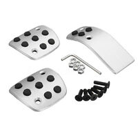 MT Manual Sport Aluminum Foot Pedal Pads Covers Set for Peugeot 206 206CC 207