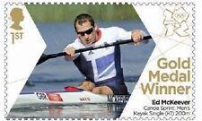 GB Olympic Gold Medal Ed McKeever Canoe's Sprint single MNH 2012