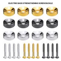 4Pcs Electric Guitar Bass Neck Mounting Screws & Joint Ferrules Bushings Accs