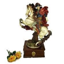 "Large  Resin Figurine Statue Napoleon Emperor crossing the Alps G. Armani 17.32"""