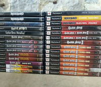PS2 Rock Band Guitar Hero Game Selection Playstation 2