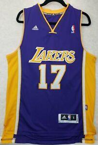 Adidas LA Lakers Jeremy Lin 2014 NBA Men's Purple Basketball Jersey Size Small